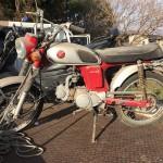 安城市上条町 バイク買取 CL50(長期不動。錆)