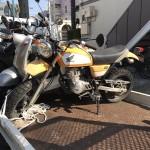 昭和区川名本町 バイク買取 エイプ50(不動放置プレイ)
