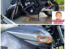 浜松市東区薬新町 事故車買取 CB400SFV3 フロント事故