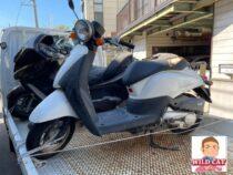 知立市内幸町 バイク買取 原付today(AF67)実働シート激しく破損